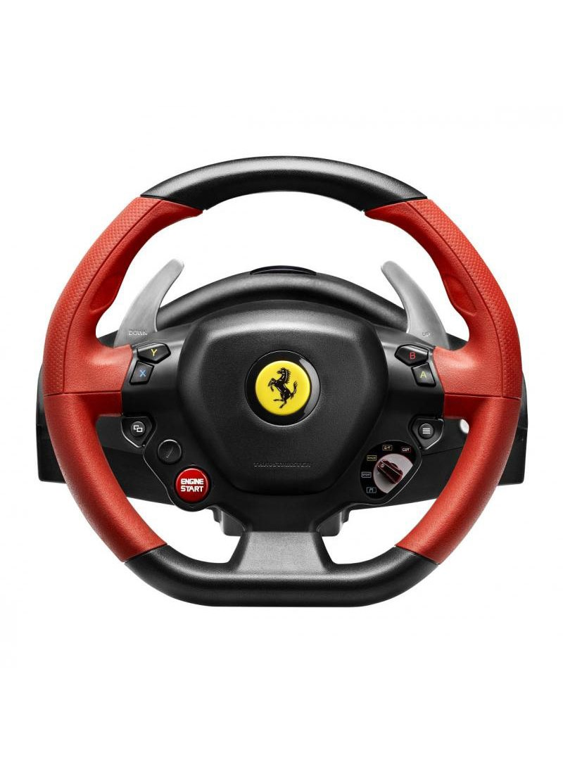 Brand NEW Thrustmaster Ferrari 458 Spider Racing Wheel Wide pedal set Xbox One